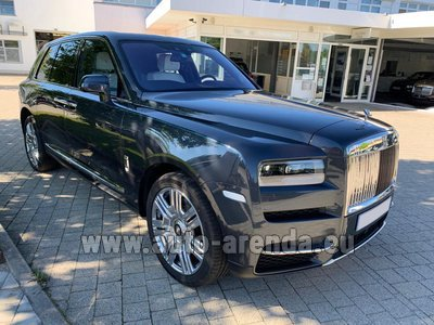 Rental in Monaco the car Rolls-Royce Cullinan dark grey