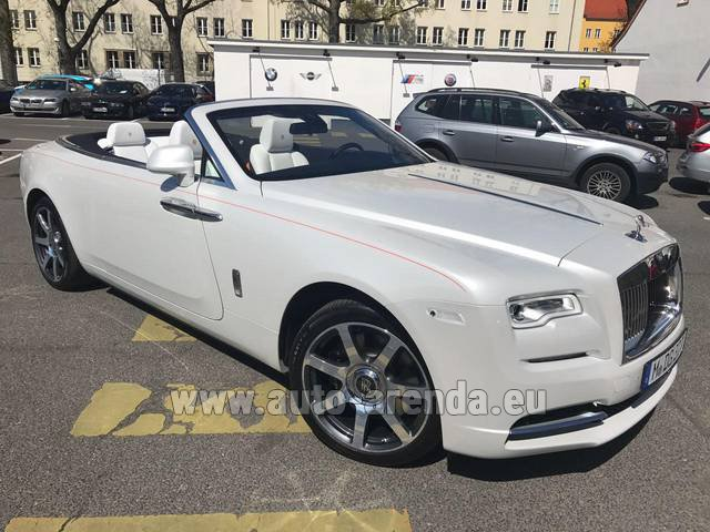 Rental Rolls-Royce Dawn (White) in La Condamine