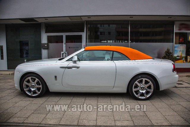 Rental Rolls-Royce Dawn White in Monte Carlo